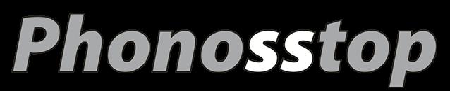 Logo de la marca propia de vidrio Phonosstop