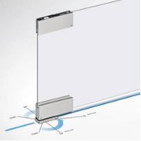 Especial Herrajes para vidrio templado: Pernio hidráulico sin empotrar